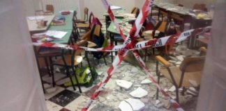crollo scuola pessina ansa