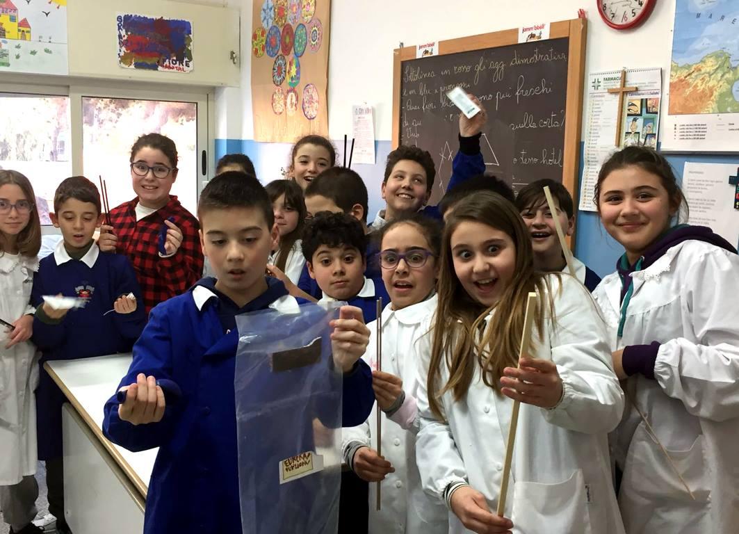 Gli alunni della 5^ A Livio Tempesta - primi classificati progetto Eureka