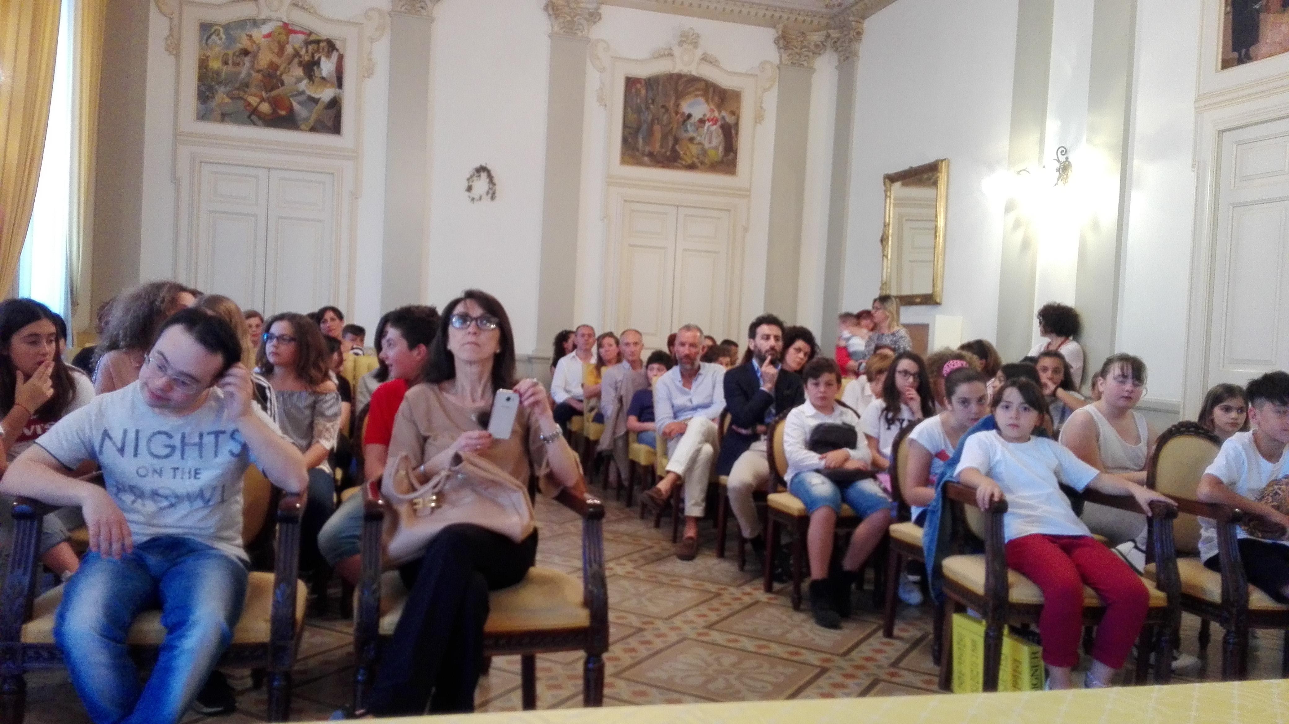 La platea nella Sala di rappresentanza