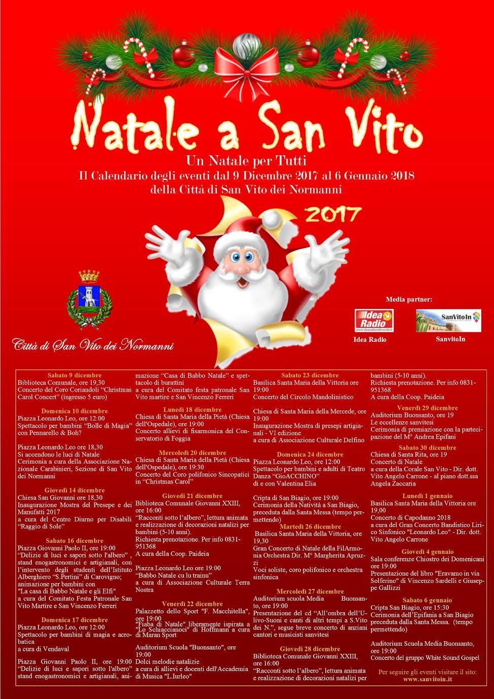 Natale a san vito giovani protagonisti per gli eventi del 22 dicembre new - San vito a tavola ...