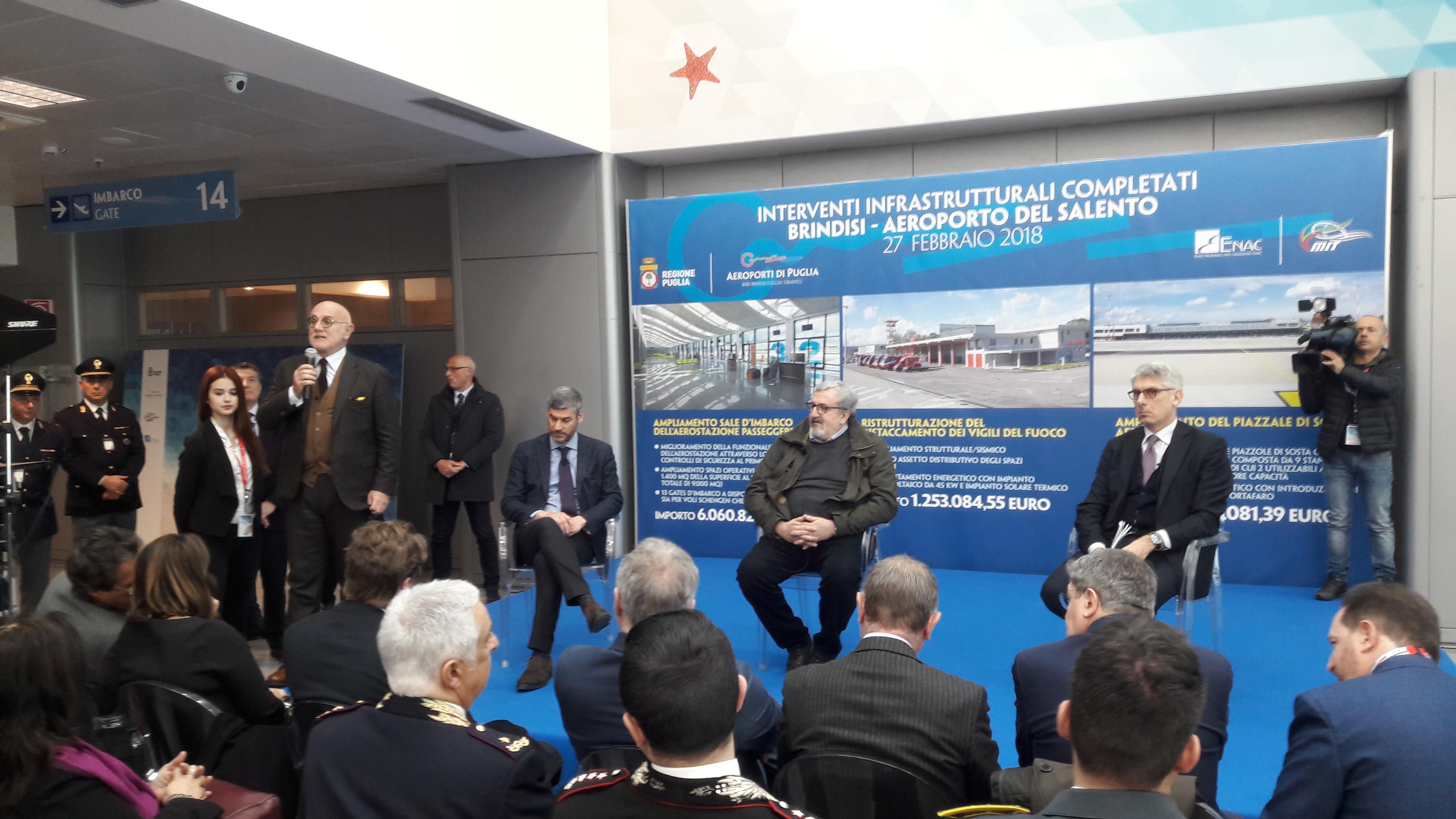 Aeroporto Brindisi : Aeroporto arriva il decreto pro grottaglie emiliano u ci vantaggi