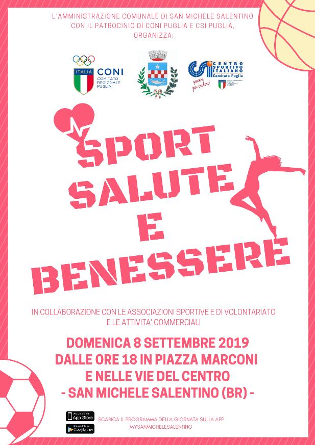 Sport Salute E Benessere Domenica 8 Settembre A San Michele Salentino New Pam It Informiamo Brindisi E Provincia