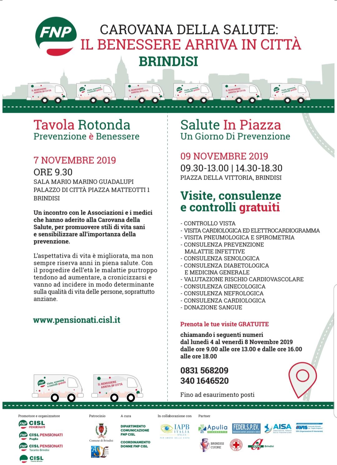 Carovana Della Salute Il Benessere Arriva In Citta New Pam It Informiamo Brindisi E Provincia